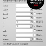 selection transform manager