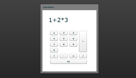 Layout of your flex calculator